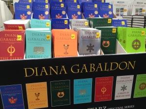 Diana Gabaldon book display